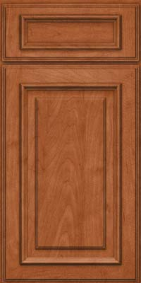 Square Raised Panel - Solid (AA4M) Maple in Cinnamon - Base