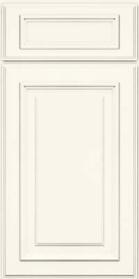 Square Raised Panel - Solid (AA4M) Maple in Dove White - Base