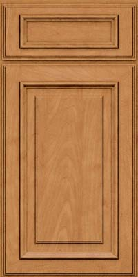 Square Raised Panel - Solid (AA4M) Maple in Ginger w/Sable Glaze - Base