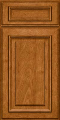 Square Raised Panel - Solid (AA4M) Maple in Golden Lager - Base