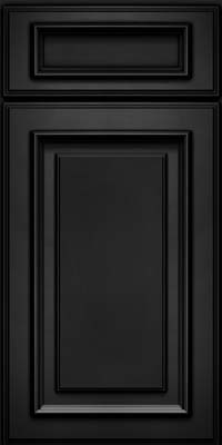 Square Raised Panel - Solid (AA4M) Maple in Onyx - Base