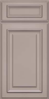 Square Raised Panel - Solid (AA4M) Maple in Pebble Grey - Base