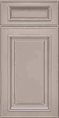 Square Raised Panel - Solid (AA4M) Maple in Pebble Grey w/ Cocoa Glaze - Base