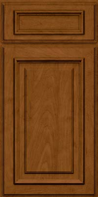 Square Raised Panel - Solid (AA4M) Maple in Rye w/Sable Glaze - Base