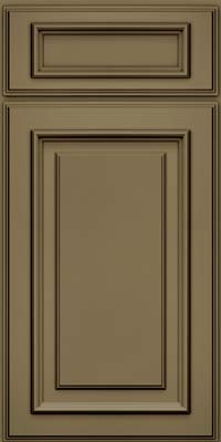 Square Raised Panel - Solid (AA4M) Maple in Sage w/Cocoa Glaze - Base