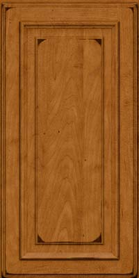 Square Raised Panel - Solid (AA4M) Maple in Burnished Golden Lager - Wall
