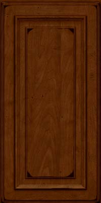 Square Raised Panel - Solid (AA4M) Maple in Burnished Chestnut - Wall