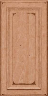Square Raised Panel - Solid (AA4M) Maple in Burnished Ginger - Wall