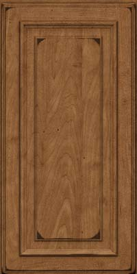Square Raised Panel - Solid (AA4M) Maple in Burnished Rye - Wall