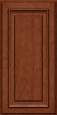 Square Raised Panel - Solid (AA4M) Maple in Chestnut w/Onyx Glaze - Wall
