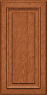 Square Raised Panel - Solid (AA4M) Maple in Cinnamon - Wall