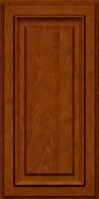 Square Raised Panel - Solid (AA4M) Maple in Cinnamon w/Onyx Glaze - Wall