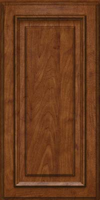 Square Raised Panel - Solid (AA4M) Maple in Cognac - Wall