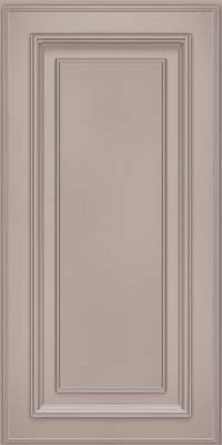Square Raised Panel - Solid (AA4M) Maple in Pebble Grey w/ Coconut Glaze - Wall