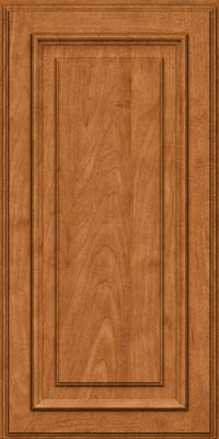 Square Raised Panel - Solid (AA4M) Maple in Praline w/Mocha Highlight - Wall