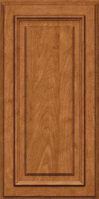 Square Raised Panel - Solid (AA4M) Maple in Praline w/Onyx Glaze - Wall