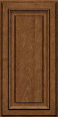 Square Raised Panel - Solid (AA4M) Maple in Rye w/Onyx Glaze - Wall
