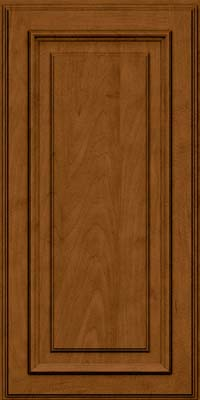 Square Raised Panel - Solid (AA4M) Maple in Rye w/Sable Glaze - Wall