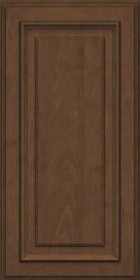 Square Raised Panel - Solid (AA4M) Maple in Saddle Suede - Wall