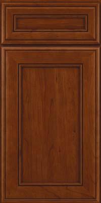 Square Recessed Panel - Veneer (AA6C) Cherry in Autumn Blush - Base