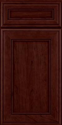 Square Recessed Panel - Veneer (AA6C) Cherry in Cabernet - Base