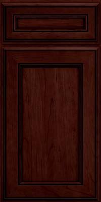 Square Recessed Panel - Veneer (AA6C) Cherry in Cabernet w/Onyx Glaze - Base