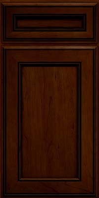 Square Recessed Panel - Veneer (AA6C) Cherry in Chocolate w/Ebony Glaze - Base