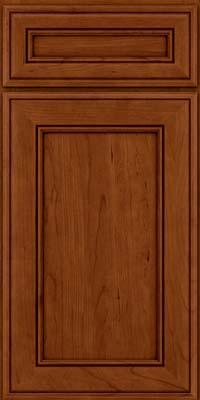 Square Recessed Panel - Veneer (AA6C) Cherry in Cinnamon w/Onyx Glaze - Base