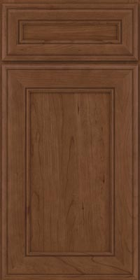 Square Recessed Panel - Veneer (AA6C1) Cherry in Hazel - Base