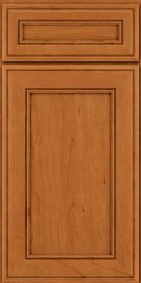 Square Recessed Panel - Veneer (AA6C) Cherry in Honey Spice - Base