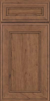 Square Recessed Panel - Veneer (AA6C) Cherry in Husk Suede - Base