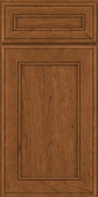 Square Recessed Panel - Veneer (AA6C) Cherry in Rye - Base