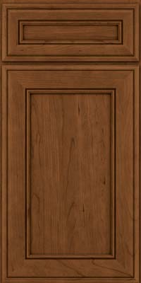 Square Recessed Panel - Veneer (AA6C) Cherry in Rye w/Sable Glaze - Base