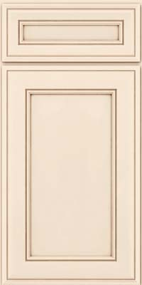 Square Recessed Panel - Veneer (AA6M) Maple in Canvas w/Cocoa Glaze - Base