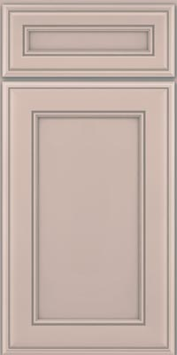 Square Recessed Panel - Veneer (AA6M1) Maple in Chai w/Cinder Glaze - Base
