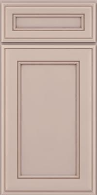 Square Recessed Panel - Veneer (AA6M1) Maple in Chai w/Cocoa Glaze - Base
