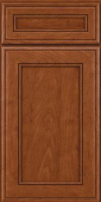 Square Recessed Panel - Veneer (AA6M) Maple in Chestnut - Base