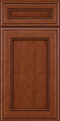 Square Recessed Panel - Veneer (AA6M) Maple in Chestnut w/Onyx Glaze - Base