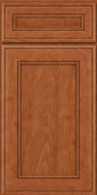 Square Recessed Panel - Veneer (AA6M) Maple in Cinnamon - Base