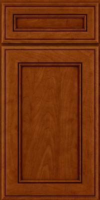 Square Recessed Panel - Veneer (AA6M) Maple in Cinnamon w/Onyx Glaze - Base