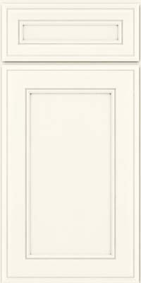 Square Recessed Panel - Veneer (AA6M) Maple in Dove White - Base