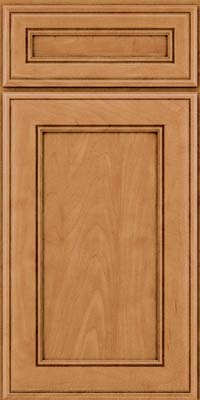 Square Recessed Panel - Veneer (AA6M) Maple in Ginger w/Sable Glaze - Base
