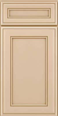 Square Recessed Panel - Veneer (AA6M) Maple in Mushroom - Base