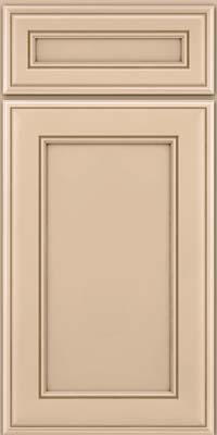 Square Recessed Panel - Veneer (AA6M) Maple in Mushroom w/Cocoa Glaze - Base