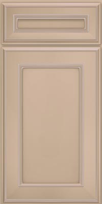 Square Recessed Panel - Veneer (AA6M1) Maple in Mushroom w/Coconut Glaze - Base