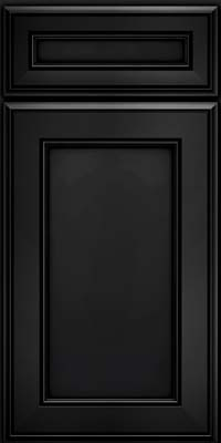Square Recessed Panel - Veneer (AA6M) Maple in Onyx - Base