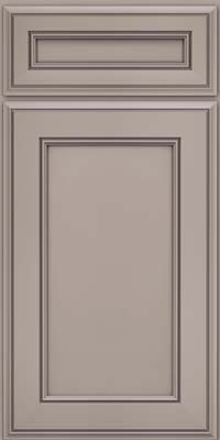 Square Recessed Panel - Veneer (AA6M) Maple in Pebble Grey - Base