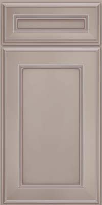 Square Recessed Panel - Veneer (AA6M) Maple in Pebble Grey w/ Coconut Glaze - Base