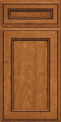 Square Recessed Panel - Veneer (AA6M) Maple in Praline w/Onyx Glaze - Base
