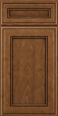 Square Recessed Panel - Veneer (AA6M) Maple in Rye w/Onyx Glaze - Base